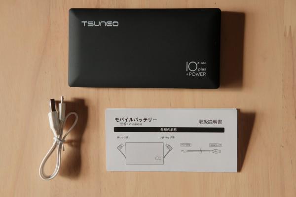 TSUNEOモバイルバッテリー中身