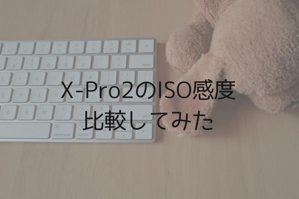 X-Pro2をISO感度はどこまで使えるか、ノイズの乗り方を比較してみた。