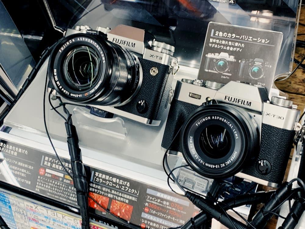 X-T3とX-T30の外観