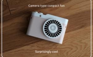 この夏を涼しくする為に、カメラ型の携帯扇風機で快適に過ごす。