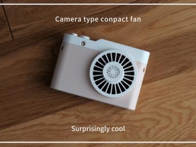 夏におすすめのカメラ型携帯扇風機